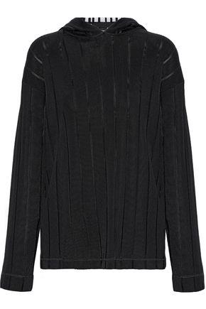 ALEXANDER WANG Ribbed intarsia-knit hoodie