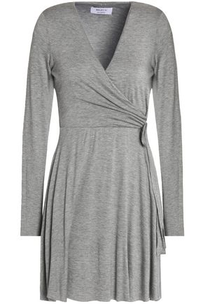 BAILEY 44 Wrap-effect stretch-jersey mini dress