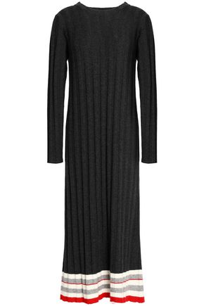MADELEINE THOMPSON Ribbed wool and cashmere-blend midi dress