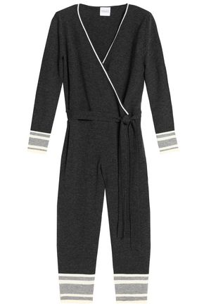 MADELEINE THOMPSON Wrap-effect cropped wool and cashmere-blend jumpsuit