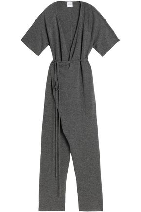MADELEINE THOMPSON Wrap-effect wool and cashmere-blend jumpsuit