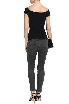 BAILEY 44 Jersey-paneled faux leather top
