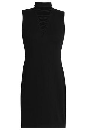 BAILEY 44 Lace-up stretch-jersey mini dress