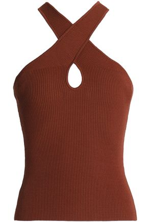 BAILEY 44 Crossover ribbed-knit top