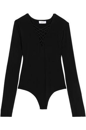 BAILEY 44 Lattice-trimmed stretch-jersey bodysuit