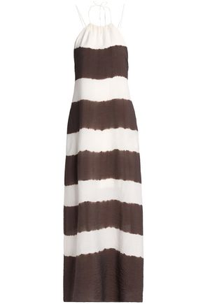 BAILEY 44 Open-back striped voile maxi dress