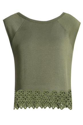 BAILEY 44 Guipure lace-trimmed stretch-modal jersey top