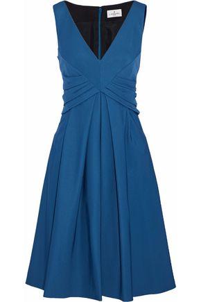 J.MENDEL Pleated stretch-ponte dress