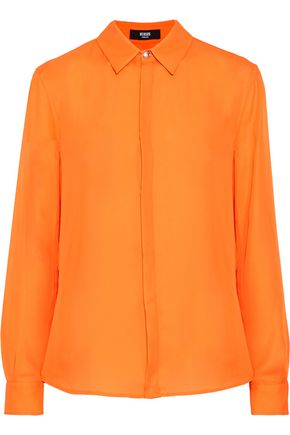 WOMAN SATEEN SHIRT ORANGE