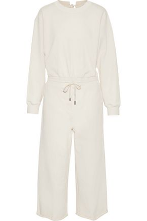 T by ALEXANDER WANG Tie-back cotton-jersey jumpsuit