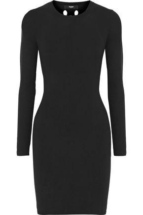 VERSUS VERSACE Cutout ribbed-knit mini dress
