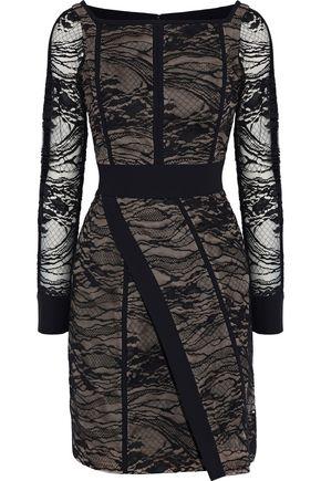 J.MENDEL Wrap-effect cotton-blend lace dress
