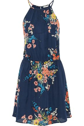 JOIE Floral-print silk crepe de chine mini dress