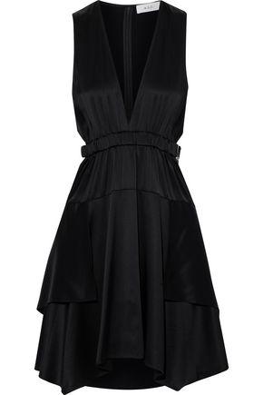 A.L.C. Cutout silk-blend satin mini dress