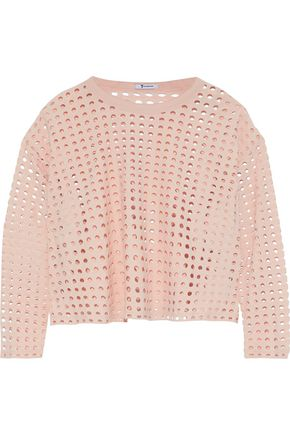 T by ALEXANDER WANG Laser-cut jersey top