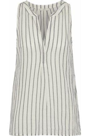 JOIE Aruna striped cotton-gauze top