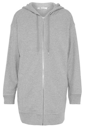 T by ALEXANDER WANG Mélange French cotton-blend terry hoodie
