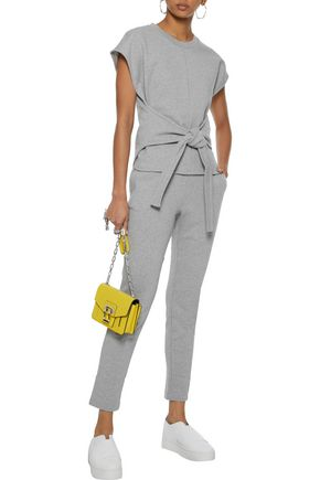 ALEXANDERWANG.T Tie-front French cotton-terry top