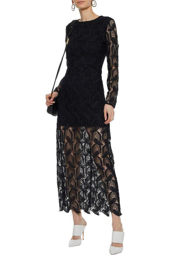 4784773c5f Cutout guipure lace maxi dress