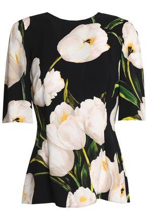 DOLCE & GABBANA Floral-print crepe top