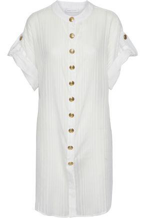 PIERRE BALMAIN Cotton-jacquard shirt dress