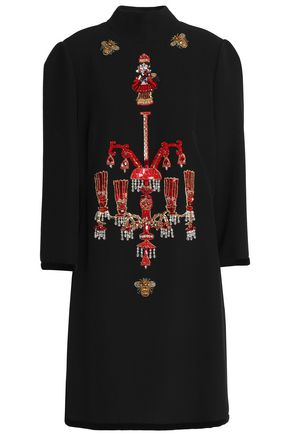 DOLCE & GABBANA Embellished woven turtleneck dress