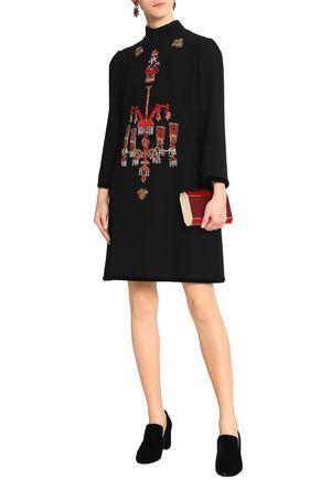 836371c05c1f0 DOLCE   GABBANA Embellished woven turtleneck dress