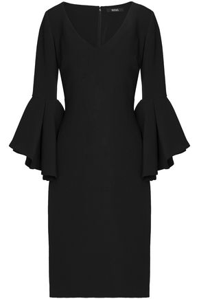 BADGLEY MISCHKA Fluted crepe dress