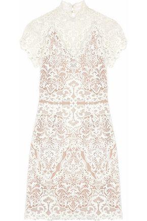 CATHERINE DEANE Java guipure lace mini dress