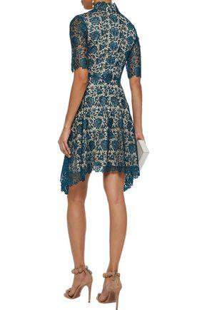 CATHERINE DEANE Jeanne metallic guipure lace dress