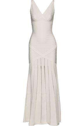 HERVÉ LÉGER Nathalie mesh-trimmed bandage gown