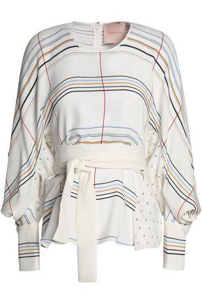 ROKSANDA Belted printed silk blouse