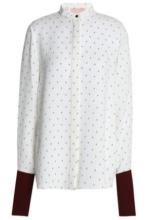 ROKSANDA Printed silk-georgette shirt