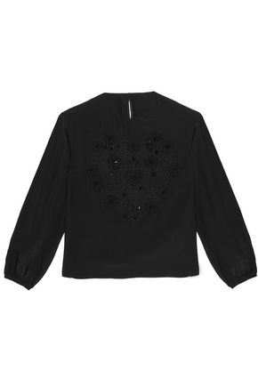 DOLCE & GABBANA Floral-appliquéd embroidered lace silk jacket