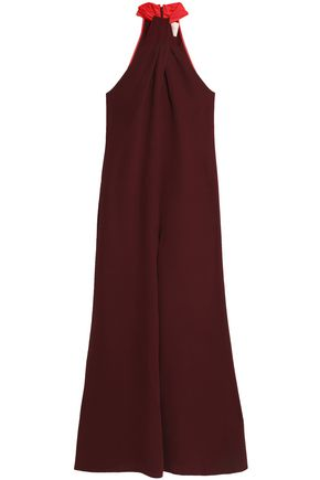 ROKSANDA Tavira satin-trimmed silk jumpsuit