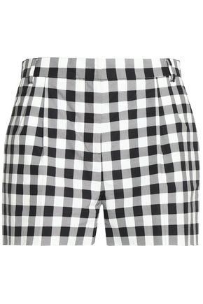 DOLCE & GABBANA Gingham cotton shorts