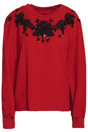 DOLCE & GABBANA Beaded crepe top