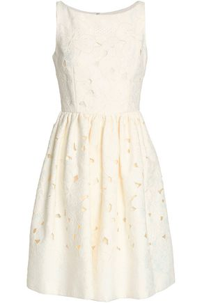 DOLCE & GABBANA Embroidered cotton-blend dress