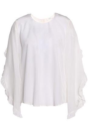 A.L.C. Hera ruffle-trimmed silk crepe de chine blouse