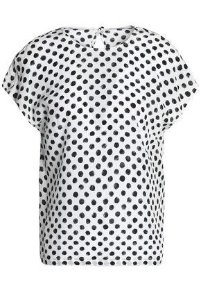 DOLCE & GABBANA Polka-dot silk crepe de chine blouse