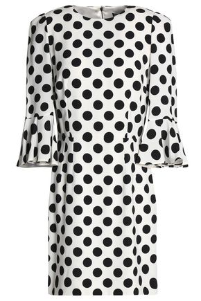 DOLCE & GABBANA Polka-dot crepe mini dress