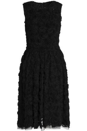 DOLCE & GABBANA Appliquéd tulle dress