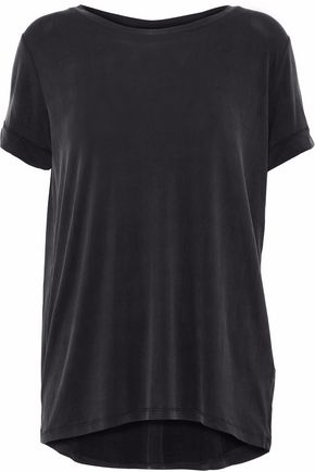 MAJESTIC FILATURES Pleated washed stretch-jersey T-shirt