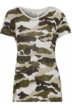 MAJESTIC FILATURES Printed slub linen T-shirt
