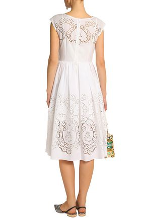 DOLCE & GABBANA Broderie anglaise cotton mini dress