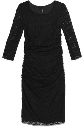 DOLCE & GABBANA Lace and crepe dress