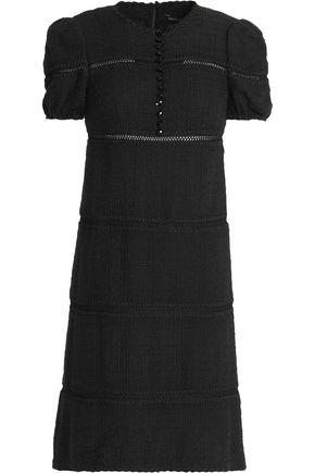 DOLCE & GABBANA Button-embellished cotton-blend tweed mini dress