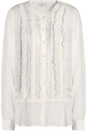 JOIE Jeronioma ruffle-trimmed modal shirt
