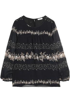 JOIE Jewella floral-print silk-chiffon blouse