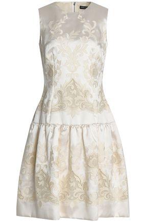 DOLCE & GABBANA Embroidered satin dress